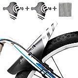 MTB Mudguard, 2 Stücke Fahrrad Schutzblech Bike Spritzschutz Mudguard Mountainbike Hinten und Vorne Spritzschutz 12 Kabelbinder Passen 26