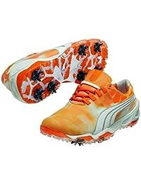 Puma Zapatos de golf Fusión orgánica Sky vibrante naranja (10)