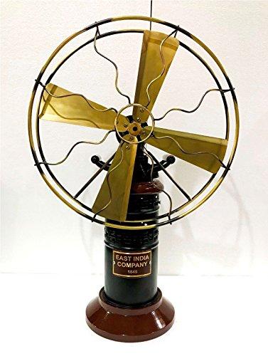 Antik 38,1cm Klingen Dampf Tisch Fan oszillierendes Arbeit Vintage Metall Messing Stil (Fan Messing-finish Antik)