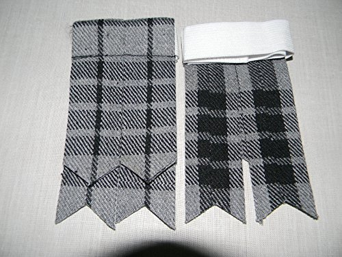 Herren Kilt Schlauch Socke Blitzgeräte mit Strumpfband verschiedenen Tartans Spitz Highland Wear -