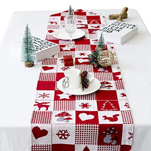 Joyibay Weihnachten Tischläufer Dekorative Esstisch Läufer für Weihnachtsdekoration