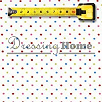 Tessuto Pois Multicolore Angelica Home & Country Collezione Fiori di Campo