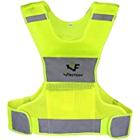 Flectson™ Reflective Vest for Running or Cycling (Women and Men, with Pocket, Gear for Jogging, Biking, Walking)