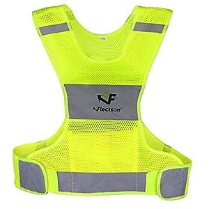 Reflektierende Weste zum Laufen oder Radfahren, für Damen und Herren, mit Tasche, zum Joggen, Radfahren, Walking