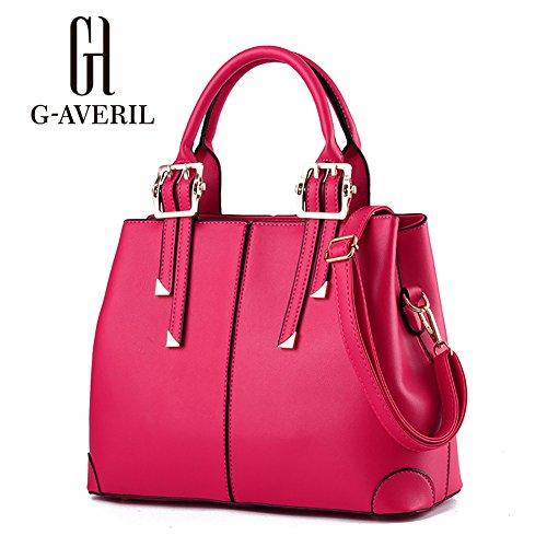G-AVERIL, Borsa a secchiello donna blu navy Navy Blue Rose Red