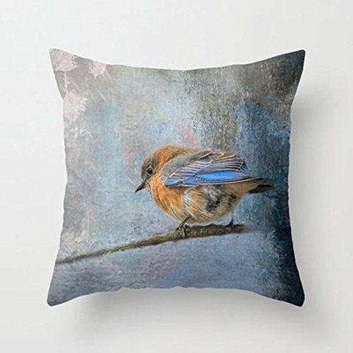 My Honey Pillow Bluebird In Winter Throw Pillow By Jai Johnsonfor Your Home