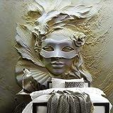 3D Murales Papel Pintado Pared Calcomanías Decoraciones Máscara De Belleza Arte Abstracto Sala De Estar Entrada Dormitorio Art º Chicas Dormitorios (W)400X(H)280Cm
