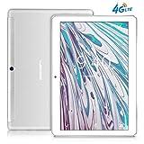 Tablette Tactile 10 Pouces 4G LTE BEISTA-3Go RAM,32GB ROM,Corps métallique Ultra-Mince,Écran en Verre trempé HD,WiFi,Android 7.0,GPS,Bluetooth,Deux Haut-parleurs stéréo-Silver