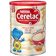 Nestlé CERELAC Wheat and Honey with Milk Infant Cereal 1kg, 12 months+ (Pack of 2)