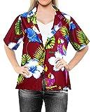 Coprire Pulsante Vestito Luau Camicia Spiaggia Hawaiana Maniche Corte Camicetta Superiore Signore gi� XL