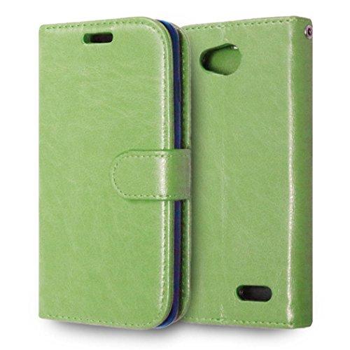 casefirst LG L90 Wallet Case, LG L90 Leather Case, Premium PU Leather Anti-Scratch Folio Stand Bumper Back Cover for LG L90 - Green (Lg L90 Case Folio)