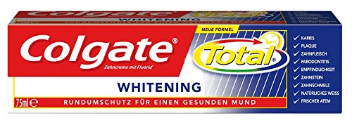 Colgate Total Whitening Zahnpasta, 6er Pack (6 x 75 ml) -