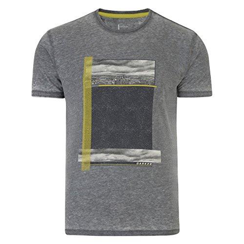 Dare 2B Herren Interscape Graphik Print Kurzarm T-Shirt Ash GreyMarl
