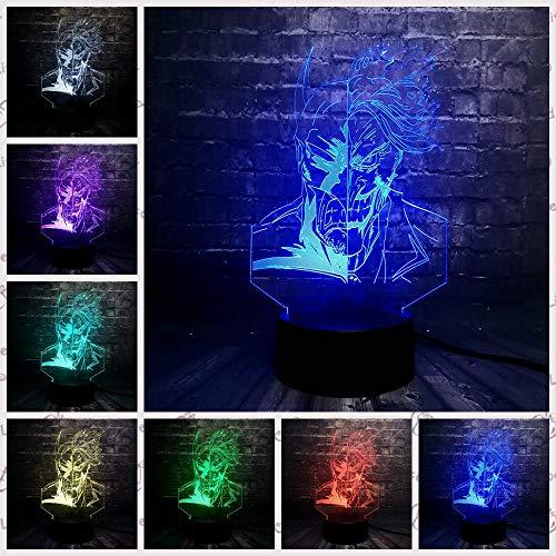 Marvel Legend Justice League Batman 3D Rgb Lampe LED Nachtlicht Schreibtisch Tisch Junge Geschenk Optische Täuschung Optisches Kind Kind Spielzeug D (Of Halloween-league Keine Legends)