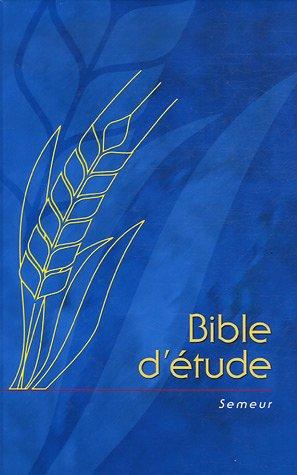 Bible d'étude Semeur, rigide bleu avec épi dessiné