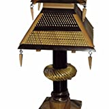 #4: Indrani Collection Bamboo Table Lamp - (20 x 20 x 43 Cms, Brown)