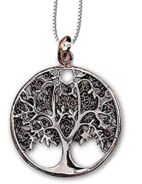 Anhänger Baum des Lebens Keltischer Lebensbaum Weltenbaum Bicolor Bronze Schmuck – Heilung – mit Kette Halskette...