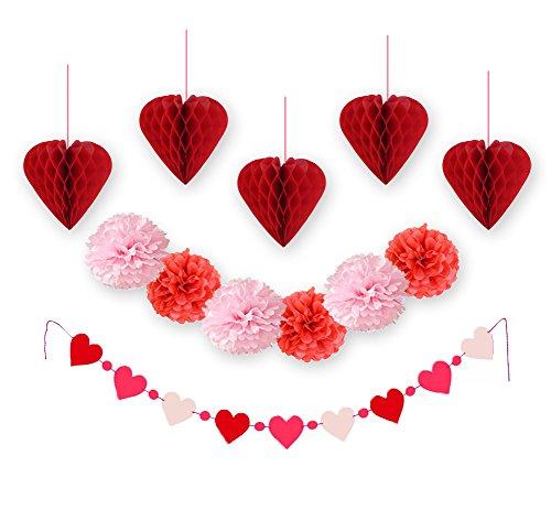 Sunbeauty confezione da 12 pezzi e pom pom fiori palle di carta per casa fiesta san valentino di nozze