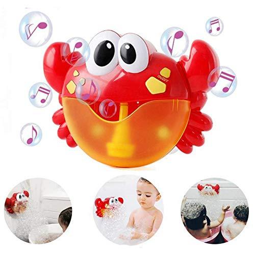 (LOTONJT Baby Badewannenspielzeug, Crab Bubbler Spielzeug Badewanne Spielzeug für die Badewanne Seifenblasenmaschine Musik Bubble Machine Spielzeug Badewanne für die Baby Kleinkindspielzeug)