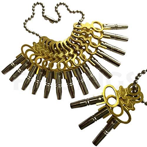 Set von 14Taschenuhr Schlüssel Werkzeuge Größe 00-12Winder Vintage Winder