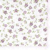 20 Servietten Mille Fleurs rose - Eintausend rosa Blumen / Blumenmuster 33x33cm
