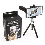 Carson HookUpz Universal Smartphone Adapter mit 6x 18mm Teleobjektiv Monokular und verstellbares Mini Stativ