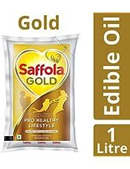 Saffola Gold Edible Oil, Pouch, 1L
