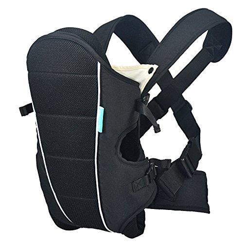 HarnnHalo 3 in 1 kompakte Babytrage verstellbare Kindertrage mit Lätzchen M09 Schwarz