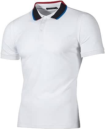 T-Shirts,Honestyi 2019 Neueste Modell Herren Poloshirt Kurzarm Klassisches Basic T-Shir hochwertigem Single Jersey Stoff Sweatshirt Kurzarmshirt blusen Tops Streetwear M-XXL