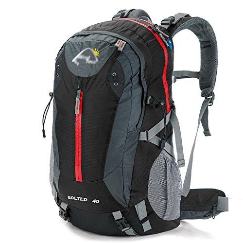zaino trekking Sport e tempo libero zaino alpinismo borsa tracolla in nylon a tracolla Men & Women Sports casuale Travel Bag 40 / 50L Zaini da escursionismo ( Colore : Blu , dimensioni : 40L 35*25*50C Nero
