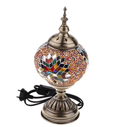 Sharplace Mosaiklampe Handgefertigte Türkische Nachttischlampe Nachtlampe Tischleuchte - Bunt -