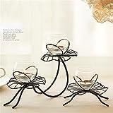 W&X Kerzenhalter Eiserne Kunst Glas Kreativ Lotus Romantisch Valentinstag Abendessen bei Kerzenlicht Esstisch Kerzenhalter , B - 7