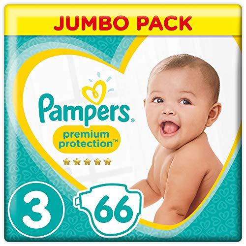 Pampers Premium Protection Windeln Jumbopack, Gr. 3 Maxi (6-10 kg), 1er Pack (1 x 66 St