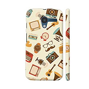 Colorpur Moto X1 Cover - Vintage Hipster Items Pattern Case