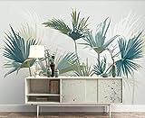 Papier Peint 3D Mural Palmier Tropical Simple Peinture Décorative Amovible Amovible Sticker Mural Home Decor Art