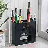 Porta ombrelli, Quadrata Portaombrelli Metallo Moderna Design con vaschetta raccogligocce per Lungo Tempo Breve Ombrello per canne Bastoni da Passeggio Home Ufficio-C 20 * 50 * 50cm