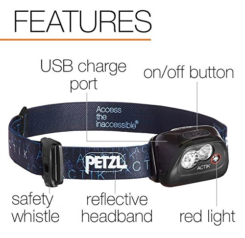 PETZL ACTIK HEADLAMP Green 4