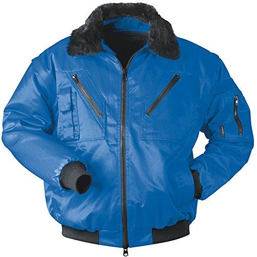 Qualitex Piloten-Jacke 4 in 1 - Kragenfutter und Ärmel abtrennbar - royalblau - Größe: 4XL