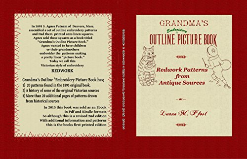Grandma's Outline ^ Embroidery Picture Book: Redwork Patterns from Antique Sources (English Edition) -