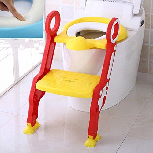 Toilettes pour enfants Bébé Enfant en Bas âge Potty Training Taille réglable Toilettes Potty Trainer Seat avec Step et Ladder Kit sécurisé Surface antidérapante (Couleur : 3)