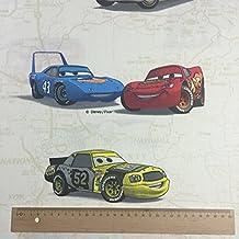 Licenza ufficiale Disney Pixar–Cars Crema 100% cotone Premium Grade stampa tessuto tenda bambini biancheria da letto tessuto Larghezza 142cm–venduto al metro
