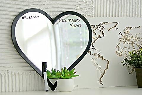 day3dream® - Coeur D'amour Miroir - Décoratif Acrylique Miroir Encadré Muraux Décoration Murale