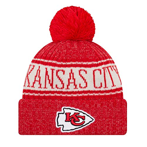 New Era - Kansas City Chiefs Beanie - on Field 2018 Sport OTC Knit - Red/White Kansas City Chiefs Beanie on Field 2018 Sport OTC Knit - One-Size