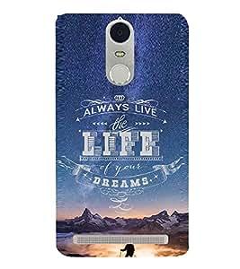 EPICCASE Live Life to The Fullest Mobile Back Case Cover For Lenovo K5 Note (Designer Case)