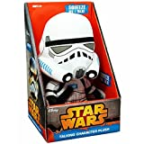 Jazwares SW01907- Star Wars Episode VII Medium Stormtrooper Plüschfigur mit Sound, 23 cm groß