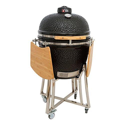 Mayer Barbecue Brenna Keramikgrill I Kamado Grill Mk 23 Mit Edelstahlwagen