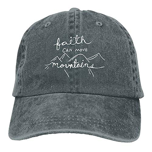 Gorgeous ornaments 2018 Adult Fashion Cotton Denim Baseball Cap Our Faith Can Move Mountains 1-1 Classic Dad Hat Adjustable Plain Cap -