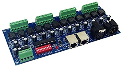 Constant Current 700mA 12CH Dimmer 12 Channel DMX512 Decoder Controller DMX convertor DC5-36V