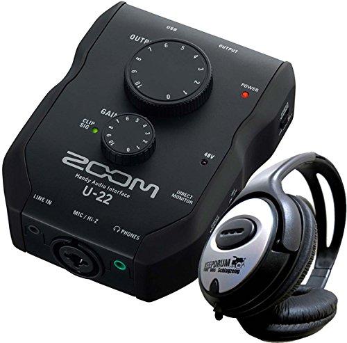 Zoom U22 USB Audio-Interface Inkl Ableton Live Lite + KEEPDRUM Kopfhörer Zoom Studio Kit