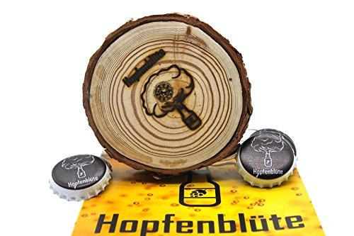51SBBwjp16L - HOPFENBLÜTE ® - Magnetbaum Holz - Männer Geschenk Geburtstag - Partygeschenk - Bis zu 60 Kronkorken - Magnetbaum - Bier
